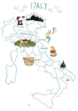 Italy by M. Moya