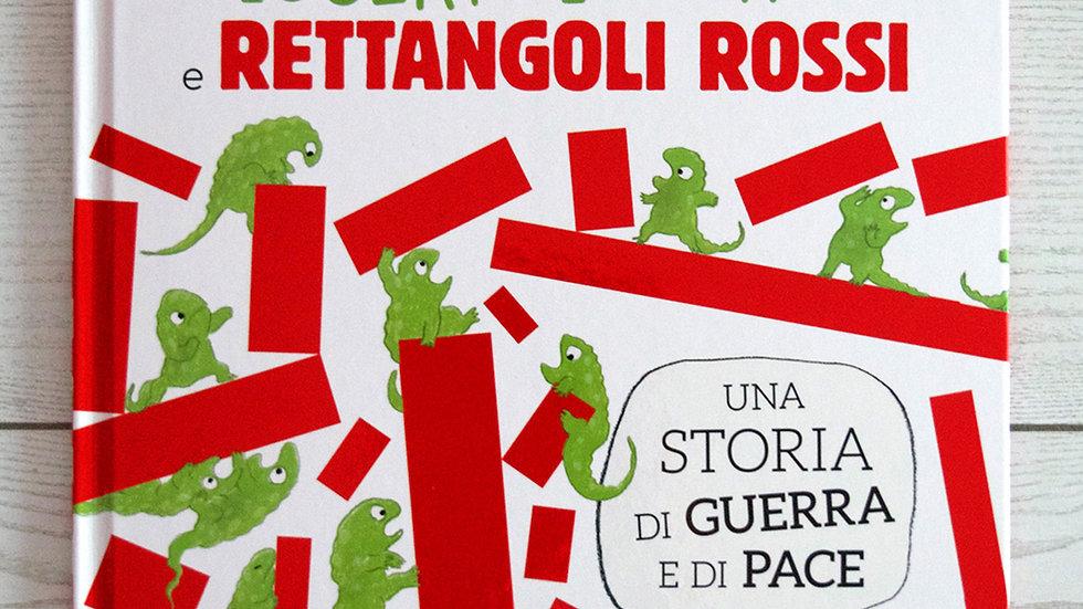 Lucertole verdi e rettangoli rossi