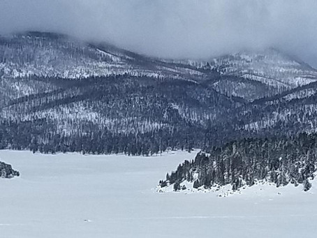 Snowshoeing in the Valles Caldera