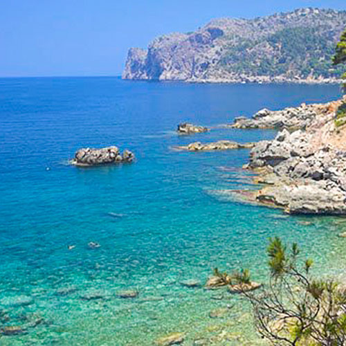 coastline and beach of mallorca, paradise for nudists
