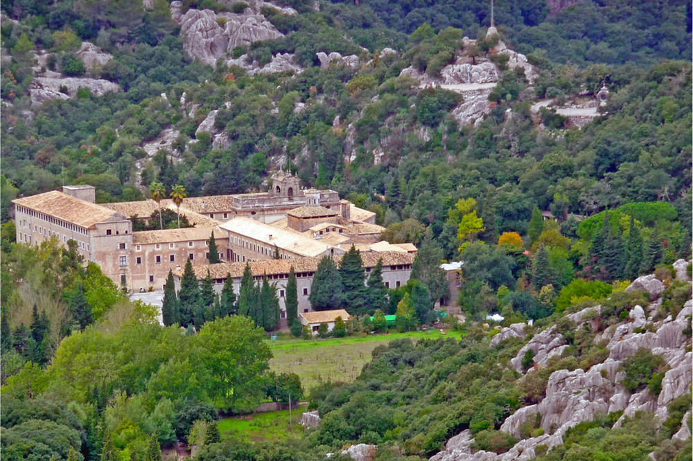 The monastery of lluc in Mallorca