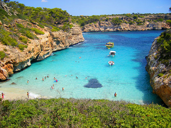 popular cove cala lombards in majorca