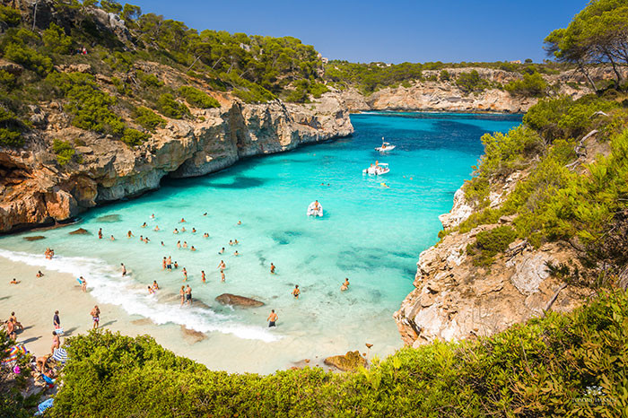 paradise beach calo des moro mallorca