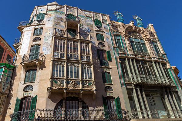 Stunning architecture art nouveau in Palma Majorca