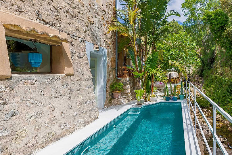Fornalutx stone house with private pool