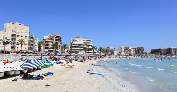 Sunny summer on can pastilla beach near Palma