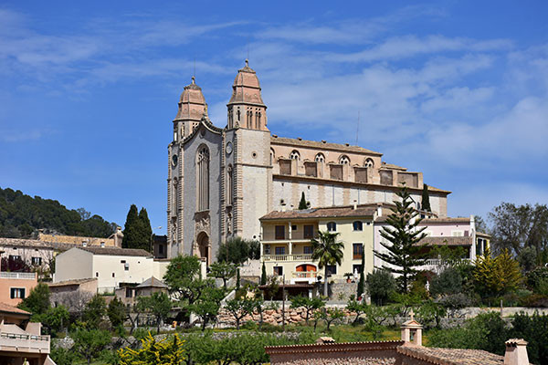 church of calvia, village in Mallorca. The municipality of Calvia is one of the richest in Spain