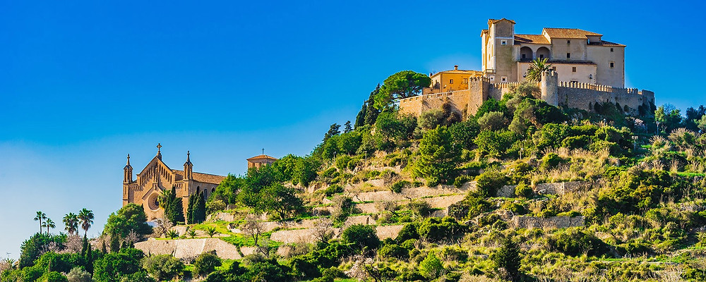 View of the sublime village of arta in majorca