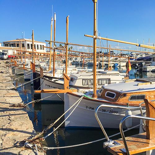 Boats on the Port of Alcudia Majorca
