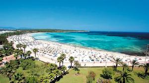 beach of sa coma majorca in a summer day