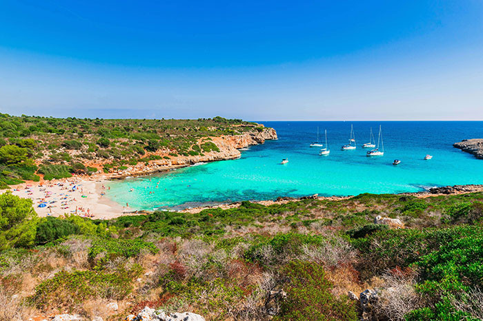 beautiful cala varques in summer on majorca
