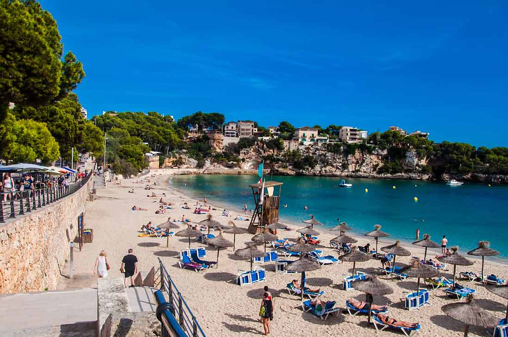 Beach of Portocristo in summer
