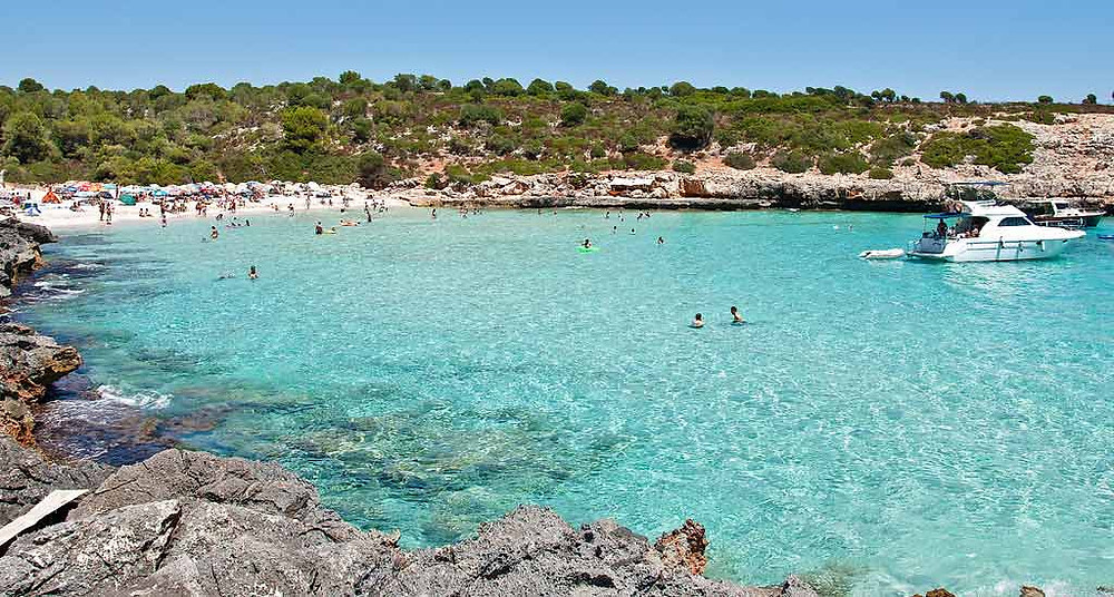 Summer day in cala marques mallorca