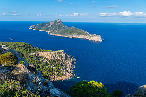 Bird's eye view of dragon era island in Majorca