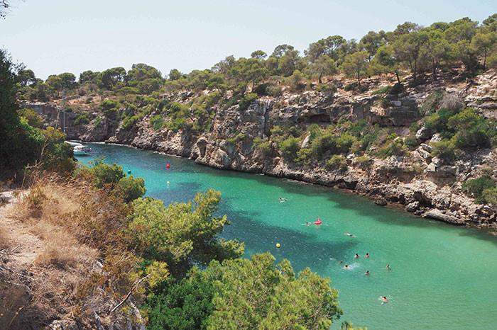 Cala pi beach south of mallorca