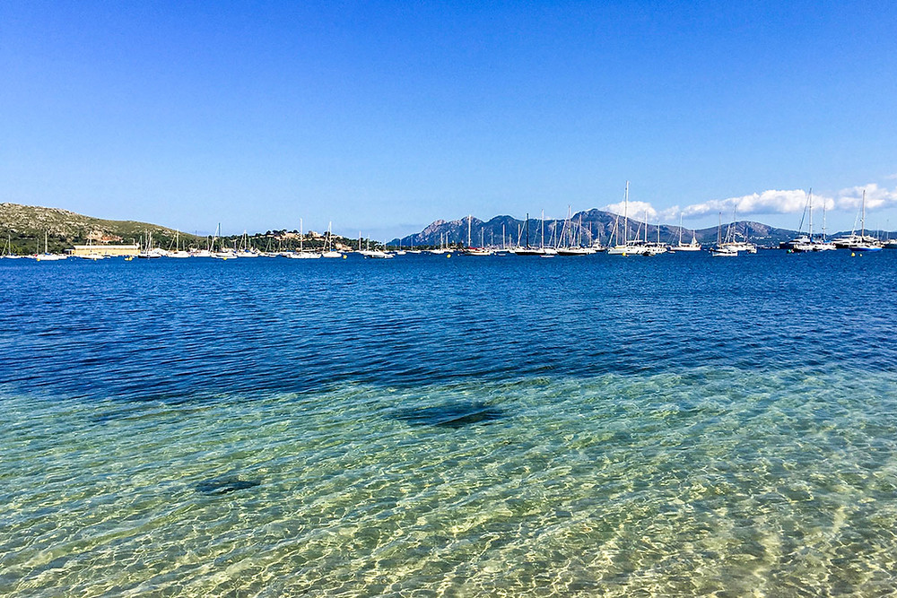 view of turquoise waters in Mallorca beach