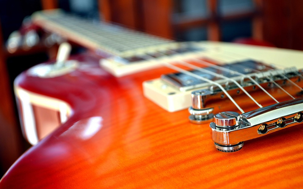 Guitar in storage