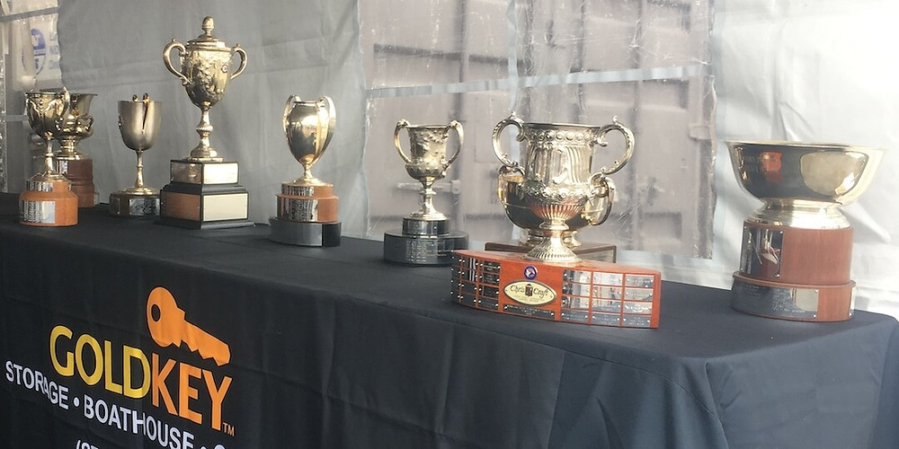 2019 Tahoe Concours d'Elegance Trophies in GoldKey Tent