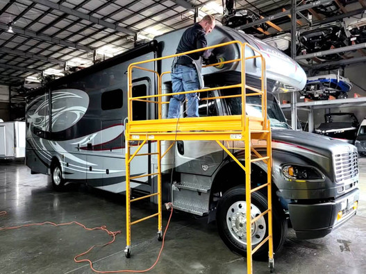 Buffing an RV at GoldKey