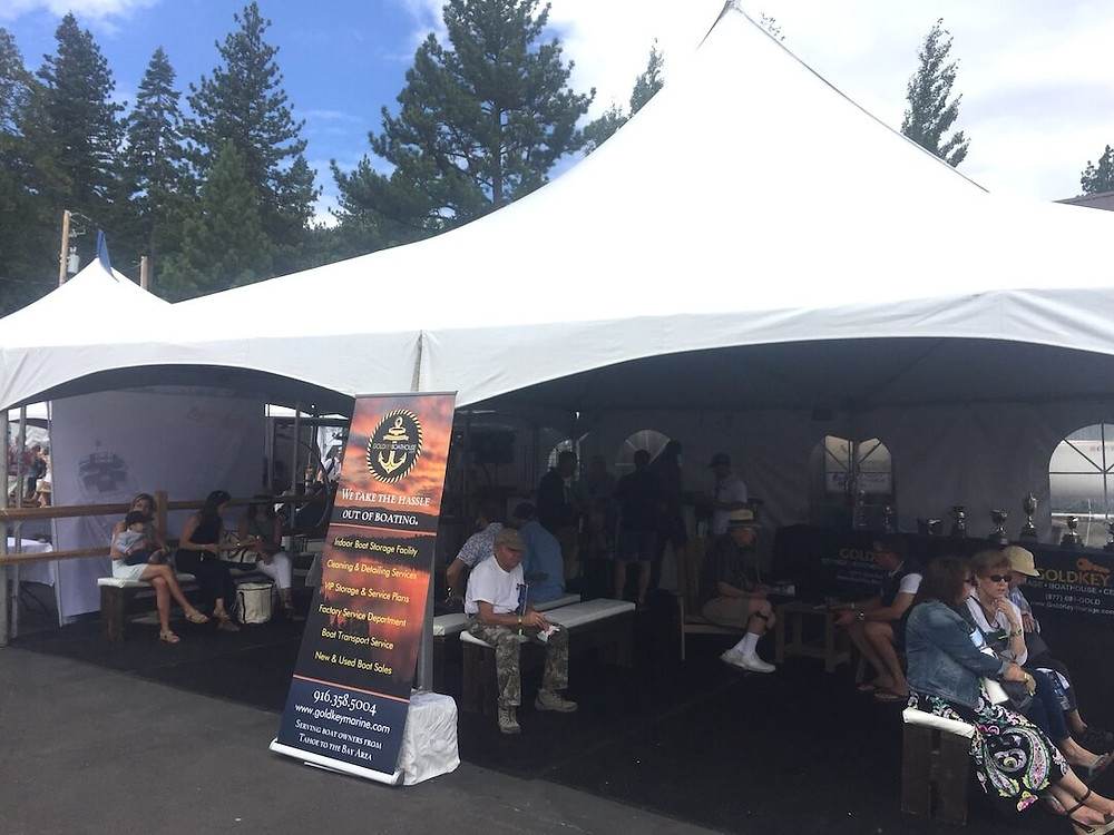 GoldKey's Sponsor Tent at 2019 Lake Tahoe Concours d'Elegance