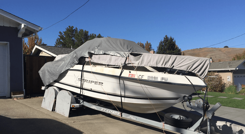Boat Stored at Home