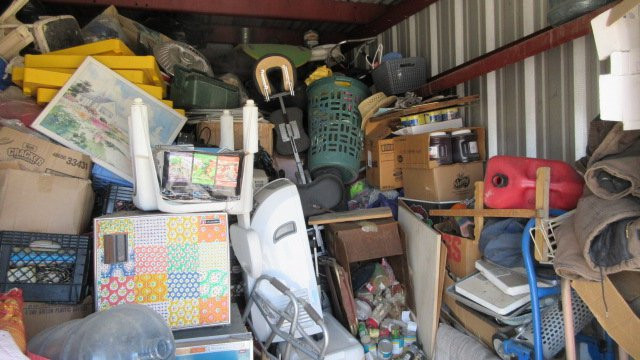 How not to pack a storage unit
