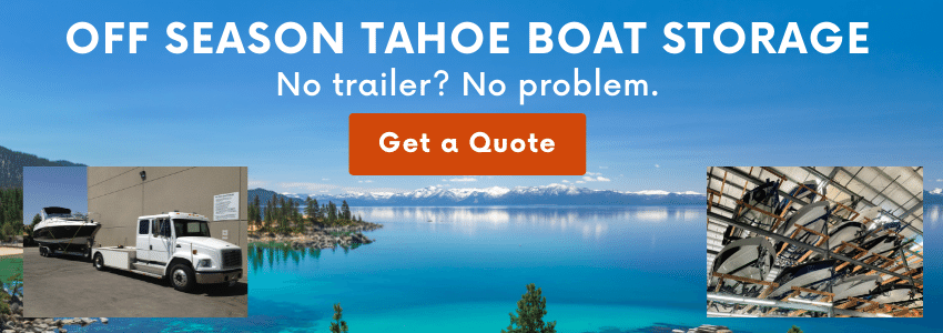 Off season storage for Tahoe boats