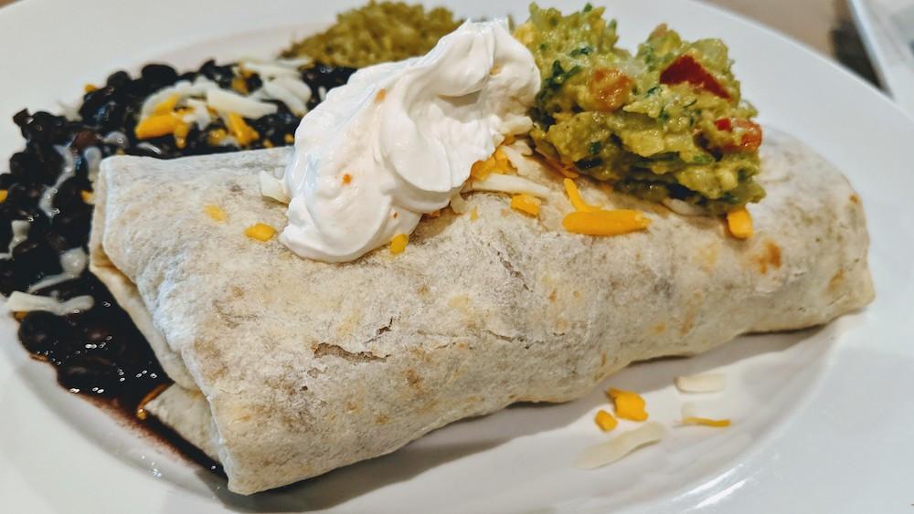 Burrito at Cascada Restaurante & Cantina