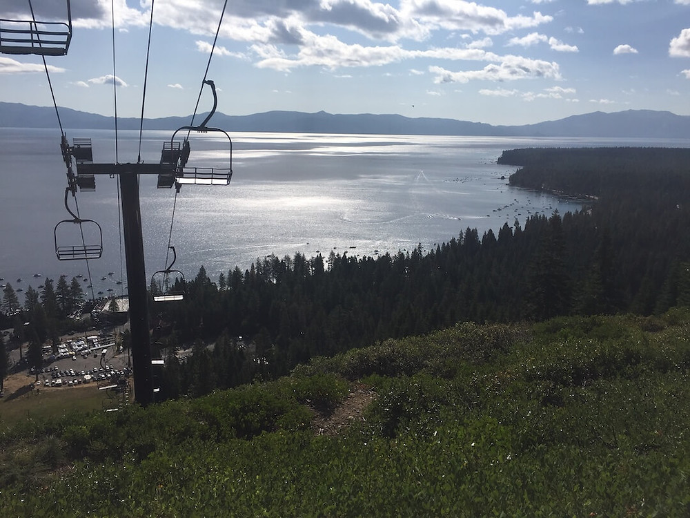 View of Lake Tahoe From Homewood Chairlift Mid-Station