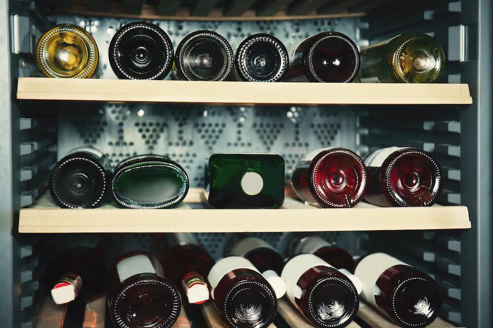 Bottles in Wine Cooler
