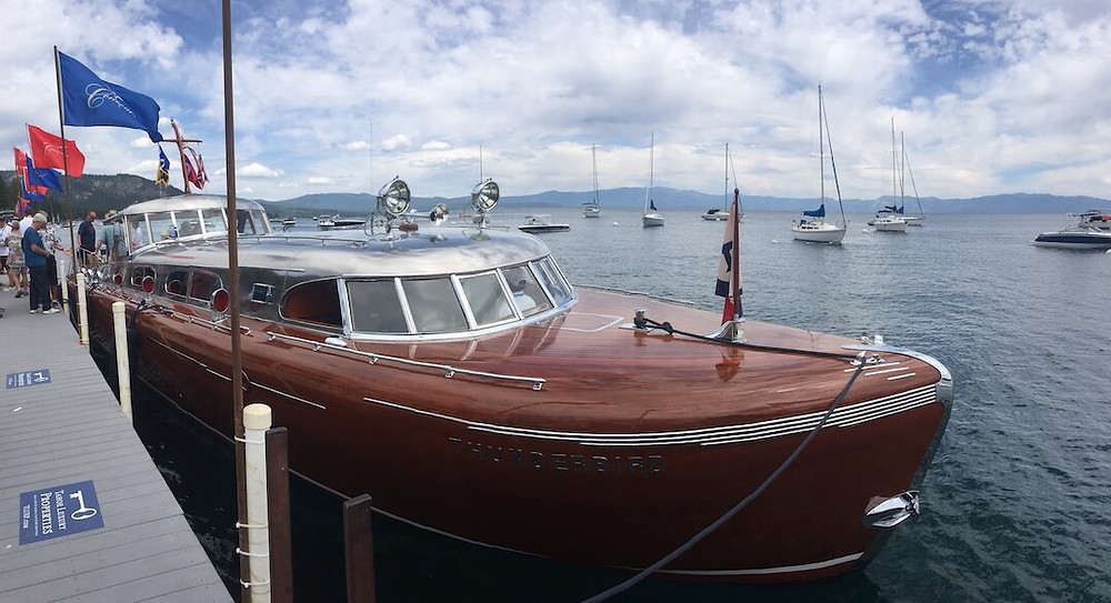 Famous Thunderbird Wooden Boat at Lake Tahoe