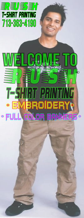 Rush Tshirt Screen Printing