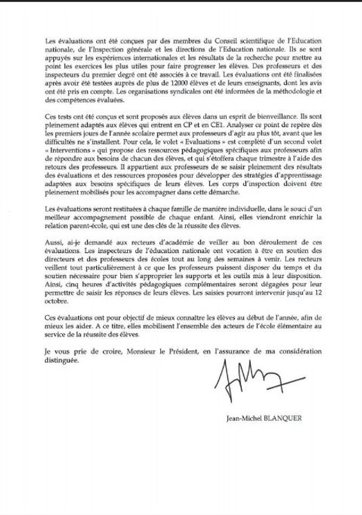 2018-09-19 SNE reponse ministre evaluati