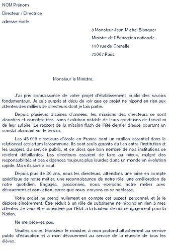 SNE 2019-02 lettre ministre loi blanquer