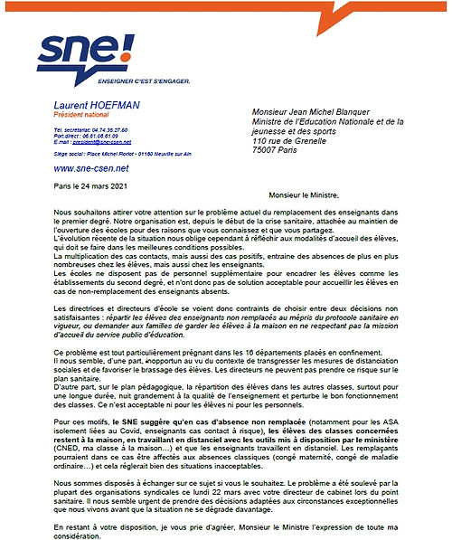21-03-25 lettre SNE au ministre.jpg