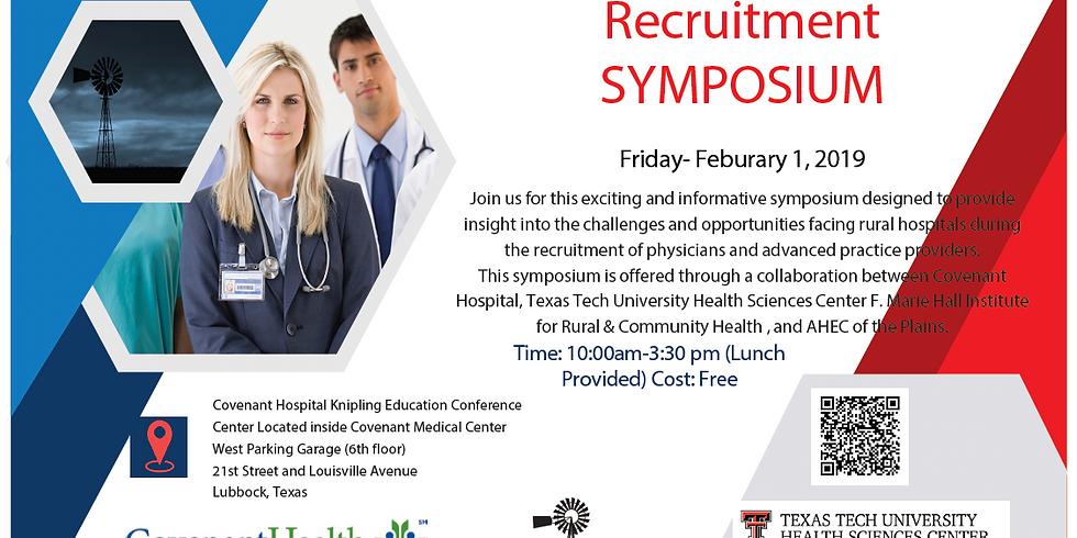 Rural Provider Recruitment Symposium