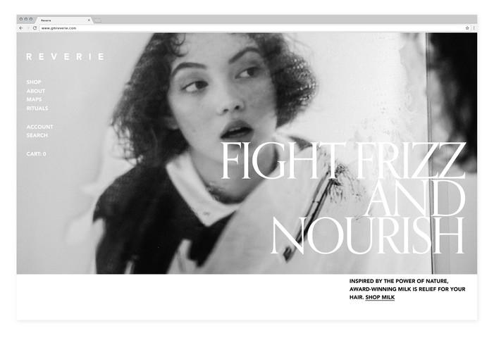 Reverie — Website design