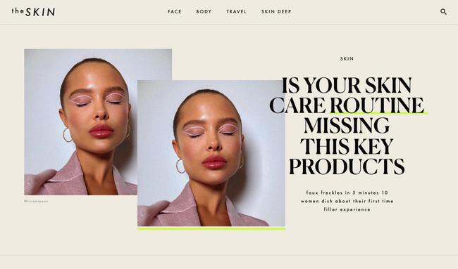 TheSkin — Website design