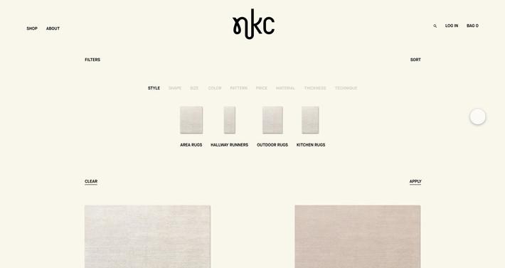 NKC — Website design & creative direction