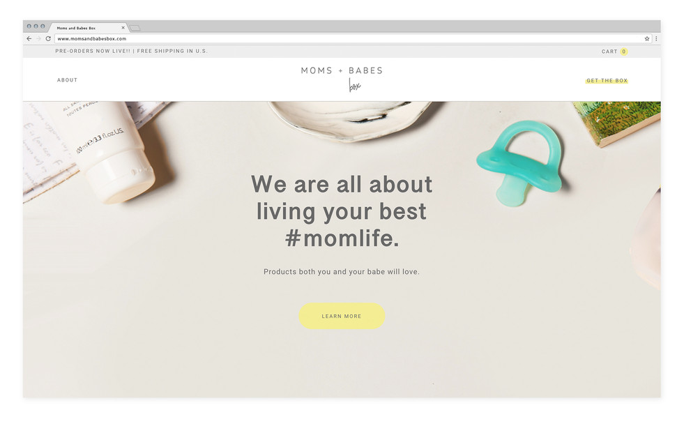 Moms and Babes Box — Website design