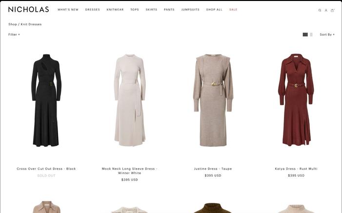 Nicholas — Website design