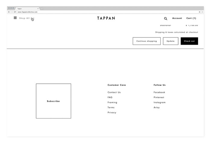 Tappan — website design & art direction