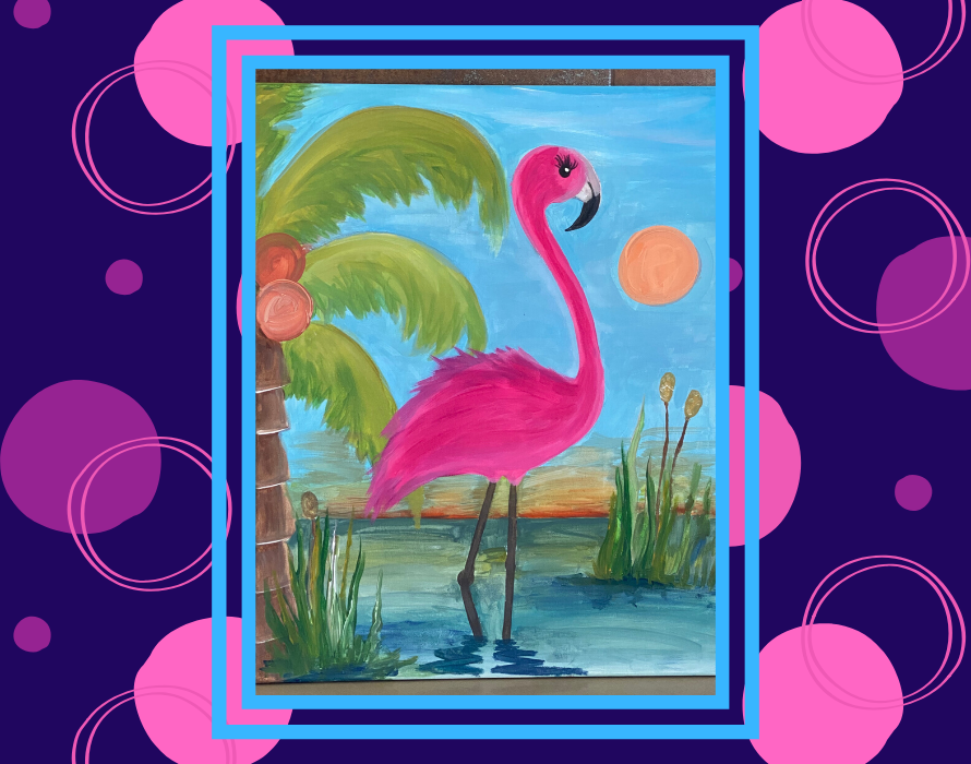 canva flamingo