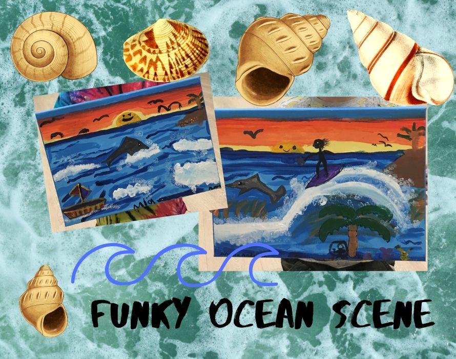 Funky Ocean Scene