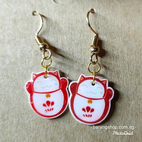 Maneko Lucky Cat Earrings