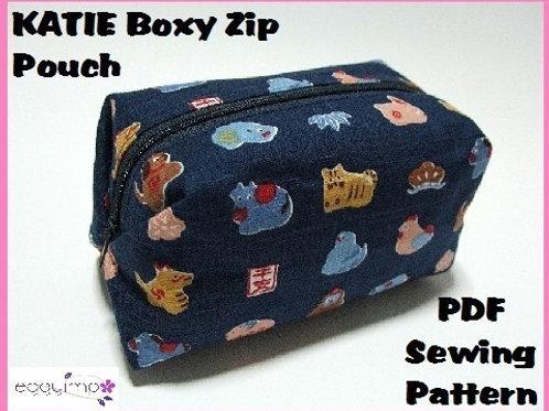 KATIE Boxy Zip Pouch Sewing Pattern