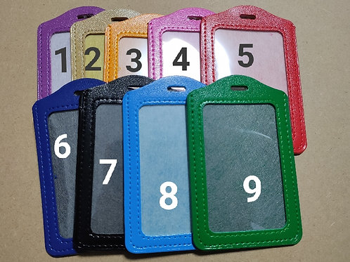 PU/Vegan Leather Vertical ID Card Holder