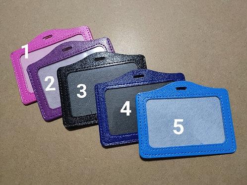 PU/Vegan Leather Horizontal ID Card Holder