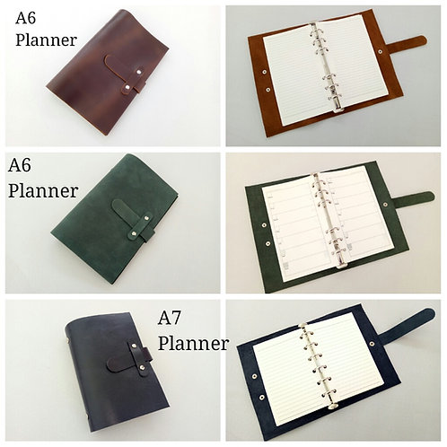 A6 Leather Organiser Planner