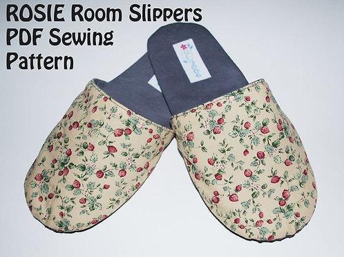 ROSIE Room Slippers Sewing Pattern - Printed Hardcopy